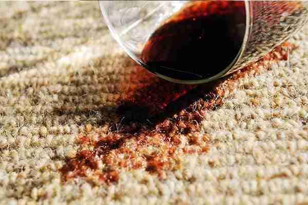 wine spill on berber carpet